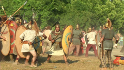 celt roman fight 53 Stock Video Footage