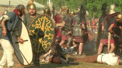 celt roman fight 55 Stock Video Footage