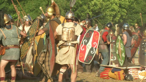 celt roman fight 57 Stock Video Footage