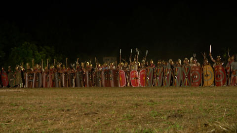 roman army night 01 Footage