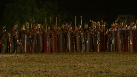 roman army night 03 Footage