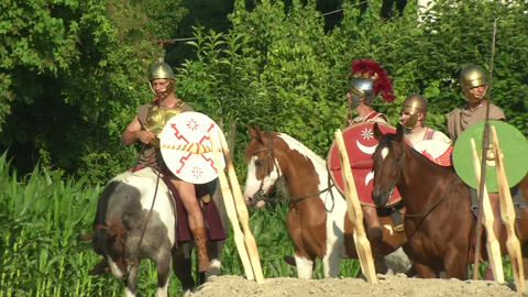 roman camp 02 Stock Video Footage