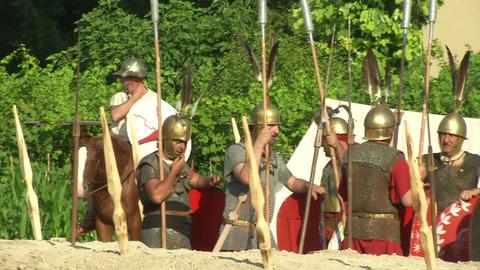 roman camp 02 Footage