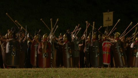 roman celt night Stock Video Footage