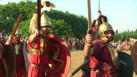 roman legion march 02 Stock Video Footage