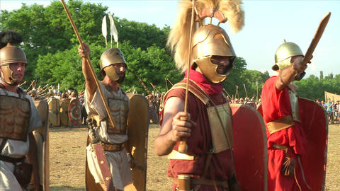 roman legion march 02 Stock Video Footage