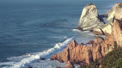 sea cliffs at cabo da roca Footage