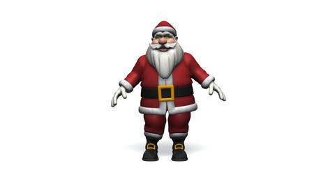 Dancing Santa Claus Stock Video Footage