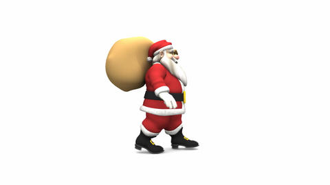 Santa Claus Walk Cycle Animation