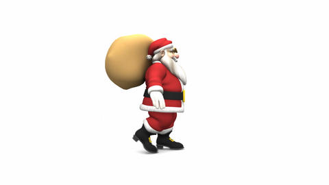 Santa Claus Walk Cycle Stock Video Footage