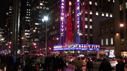 Christman in Manhattan Stock Video Footage