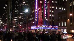 Christman in Manhattan Stock Video Footage