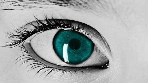 Eye Closeup Ocean Stock Video Footage