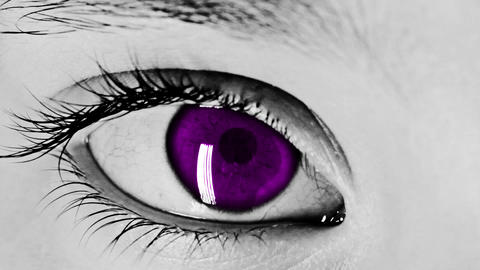 Eye Closeup Shot purple Footage