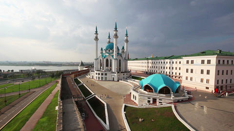 kul sharif mosque in kazan kremlin russia Stock Video Footage