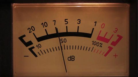 decibel meter with backlit - part of sound equipme Stock Video Footage