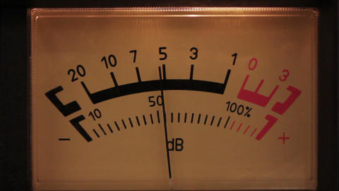 decibel meter with backlit - part of sound equipme Footage