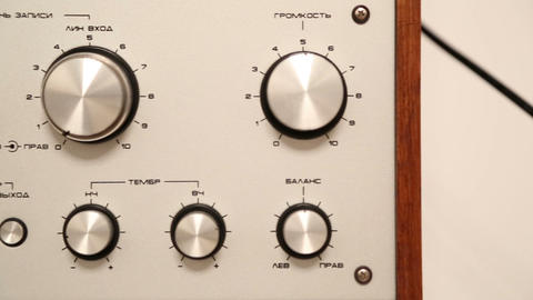 control panel of old reel tape recorder - dolly sh Stock Video Footage