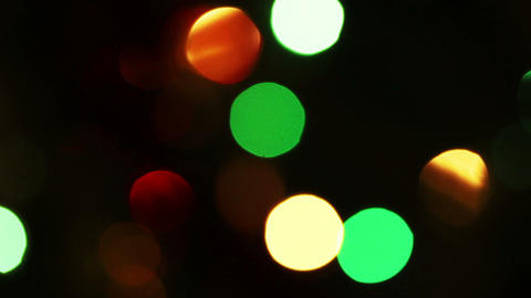 Decorated Christmas Tree With Flashing Garlands -  stock footage