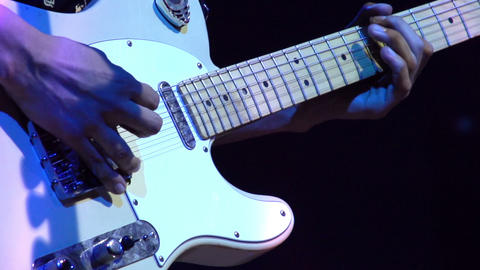 Electric Guitar at Rock Concert HD Stock Video Footage