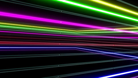 Neon tube R b A 1h HD Stock Video Footage
