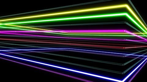 Neon tube R b A 1h HD Animation