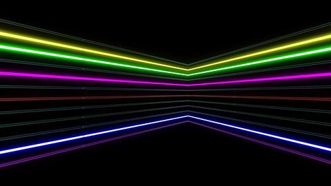 Neon tube R b B 1h HD Animation