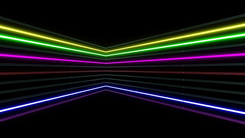 Neon tube R b B 1h HD Stock Video Footage