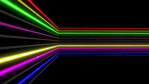 Neon tube R b C 1h HD Stock Video Footage