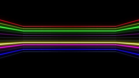 Neon tube R b D 1h HD Stock Video Footage