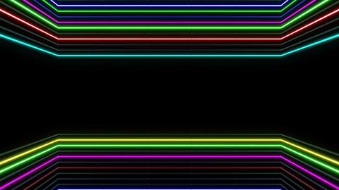 Neon tube R b E 1h HD Stock Video Footage