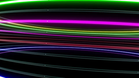 Neon tube R c A 1h HD Stock Video Footage