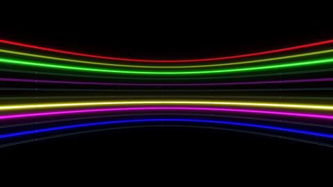 Neon tube R c B 1h HD Stock Video Footage
