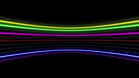 Neon tube R c B 1h HD Stock Video Footage