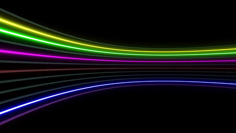 Neon tube R c C 1h HD Stock Video Footage