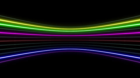 Neon tube R c D 1h HD Stock Video Footage