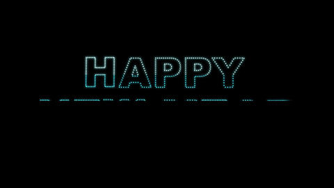 Happy New Year LEDS 02 Animation