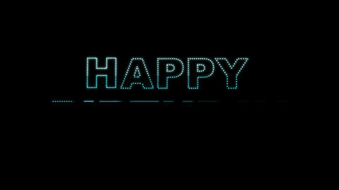 Happy Birthday LEDS 02 Stock Video Footage