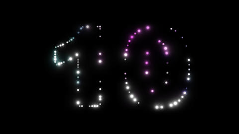 LEDS Countdown 03 stock footage