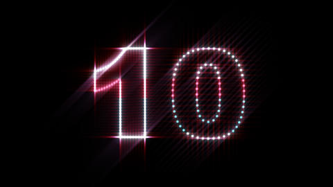 LEDS Countdown 01 Stock Video Footage