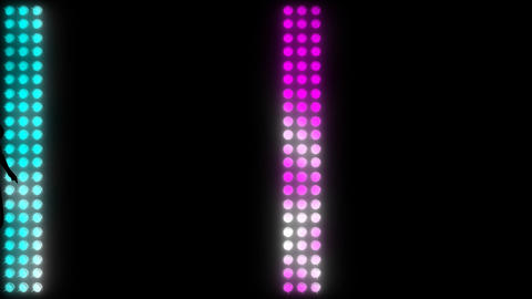 LEDS Girl Walking 04 Stock Video Footage
