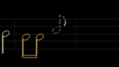 Leds Music Sheet 02 Stock Video Footage