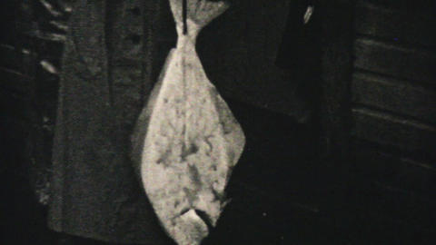 Fresh Catch Of Alaskan Halibut 1940 Vintage 8mm Footage