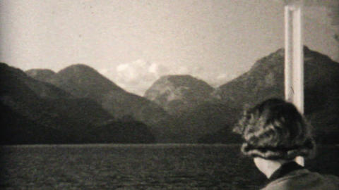 Icebergs And Totem Poles In Alaska 1940 Vintage 8m Stock Video Footage