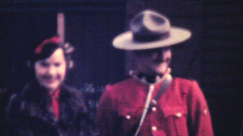 Meeting RCMP Officer In Northern BC 1940 Vintage Stock Video Footage