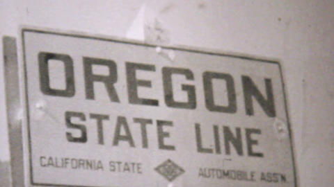 Visiting Oregon On Driving Trip 1940 Vintage 8mm Stock Video Footage