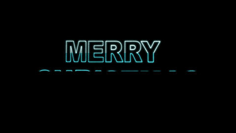 Merry Christmas LEDS 02 Stock Video Footage