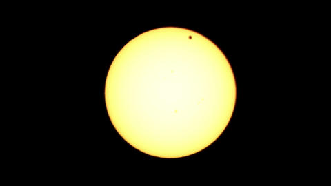 Passage of Venus across the disk of the Sun 06.06 Stock Video Footage