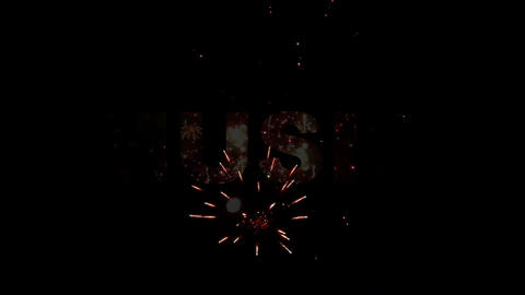 Music Styles fireworks 01 Stock Video Footage