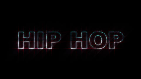 Hip Hop LEDS 01 stock footage